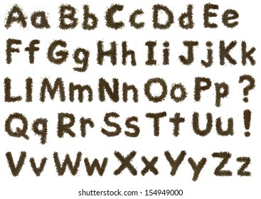 Soil Alphabet. Similar to the comic sans