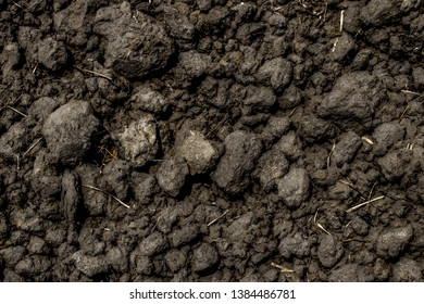 Soil condition and clay cube pattern from the soil preparation for cultivation and agriculture as abstract textured and background