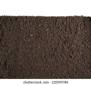 Soil or dirt section isolated background