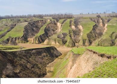 Soil erosion in Ukraine.