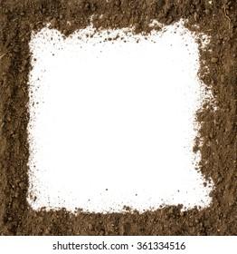 Soil Frame on white background