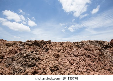 soil ground for farmer with sky background