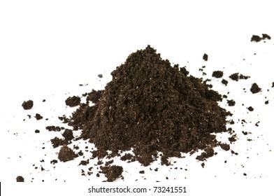 soil heap isolated on white