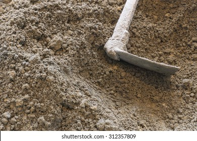 soil with hoe or digging tool