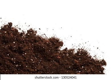Soil on the white