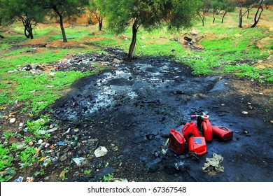 Soil pollution with petrochemical products