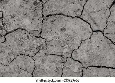 Soil Texture , Ground Surface , Soil  Dry and Broken
