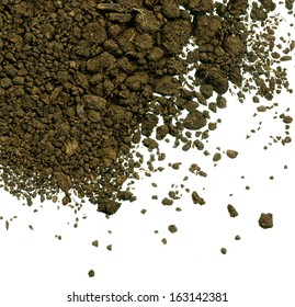 soil texture on white backgroud