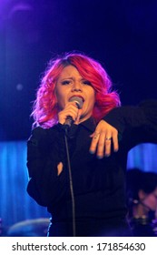 SOLANA BEACH, CA - JAN. 15: Allison Iraheta performs on January 15, 2014 at the Belly Up Tavern in Solana Beach, CA.