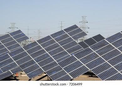 a solar array at a Solar Research Center in Phoenix Arizona