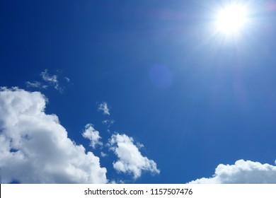 Solar blue sky white cloud