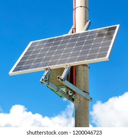 solar cell and cloud in the sky like concept of energy sustainable and innovation for the future