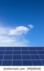 Solar cell power energy grid technology in sky background design