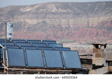 Solar cell power generator in household installed on the roof