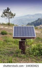Solar cell in remote area