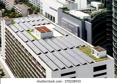 Solar cell rooftop on  building
