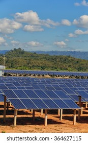 Solar cells on a big field