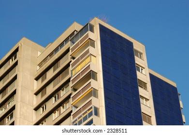 Solar cells on building