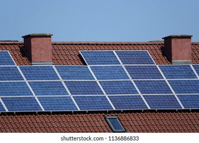 solar cells on roof