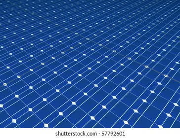 Solar cells panel seamless computer generated pattern