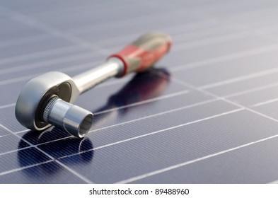 Solar cells and ratchet wrench