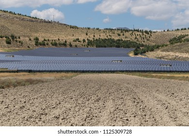 Solar collector with solar panels