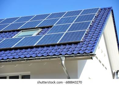Solar Collectors on tiled Roof