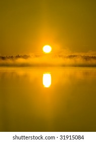 Solar - Dawn over Island Lake in Northern Minnesota