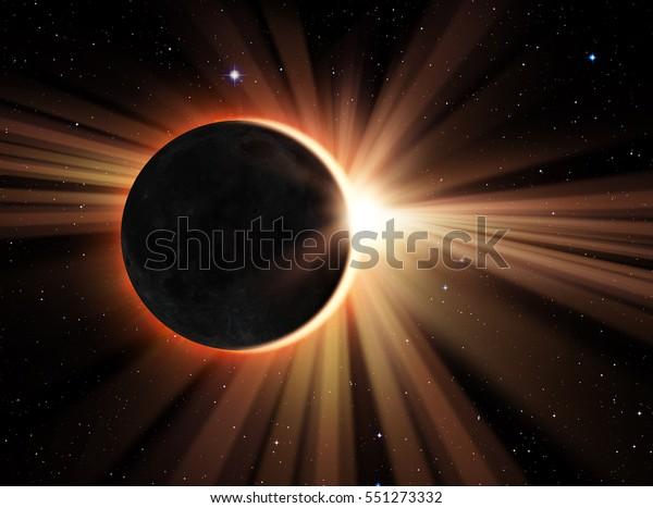 """Eclipse Solar """"Elementos desta imagem fornecido pela NASA"""""""