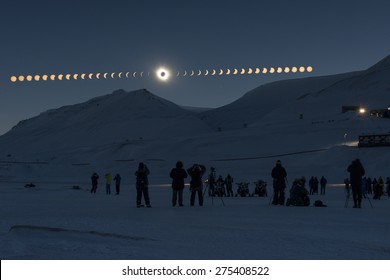Solar Eclipse Sequence in Svalbard on March 20, 2015
