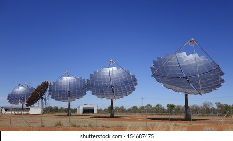 Solar Electricity Generation, Thargomindah, Queensland, Australia