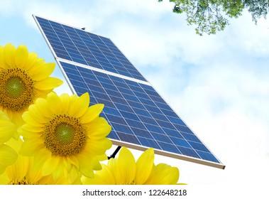 Solar energy background