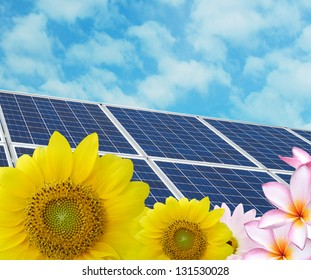 Solar energy in clean nature