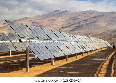 Solar Energy a clean technology to reduce CO2 emissions. The best place for Solar Energy is Atacama Desert at Chile. Bifacial modules located in hundred of rows in the desert at La Silla Observatory