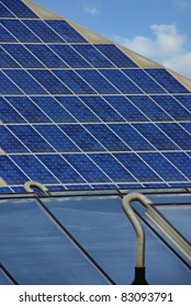 Solar energy collectors on a fotovoltaic plant of Spain