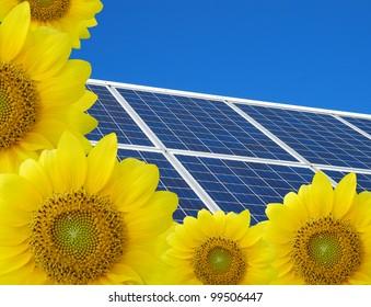 Solar energy panels background