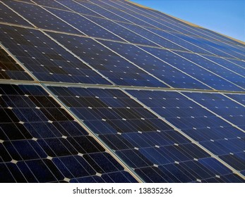 Solar Energy Panels with photovoltaic cells in Majorca (Spain)