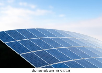 Solar energy,background of photovoltaic modules for renewable energy