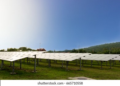 A solar farm is a natural alternative energy that uses technology to generate electricity from the sun to power a home or industrial plant that is environmentally friendly.