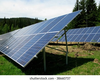 Solar field - photovoltaic power station