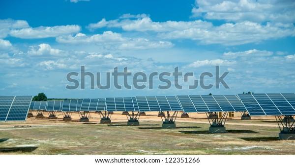 Solar field in sunny Spain