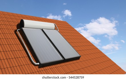 Solar Hater System on the Roof