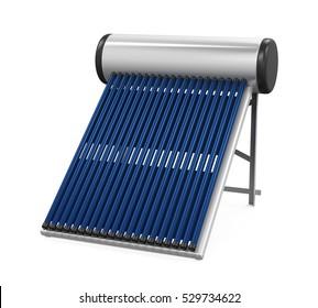Solar Heat Pipe Collector. 3D rendering