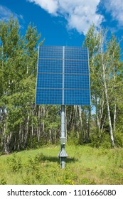 A solar panel array collecting green energy from the sun
