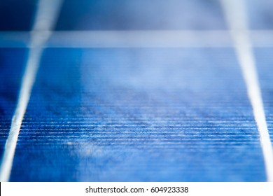 Solar panel with blue sky. Solar panel texture. Close up.