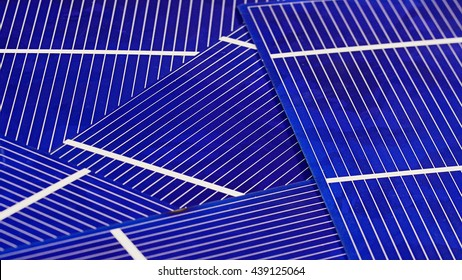 Solar panel cell elements components, detail view background