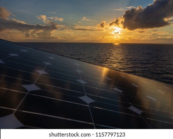 Solar panel (Solar Cell) or solar photovoltaic module alternative clean energy electricity source renewable. Eco environmentally friendly green energy of sustainable development of solar power plant