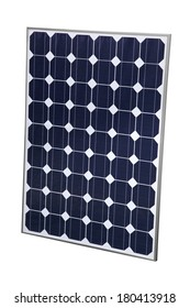 Solar Panel cutout on white background