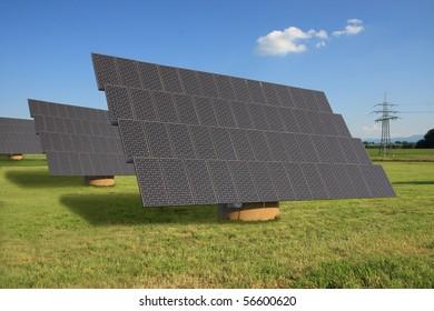 solar panel - electric power plant alternative energy