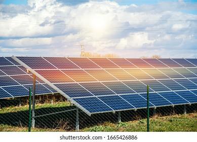 Solar panel  . energy of the sun  .